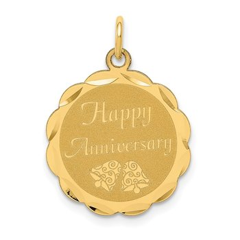 14K HAPPY ANNIVERSARY Charm