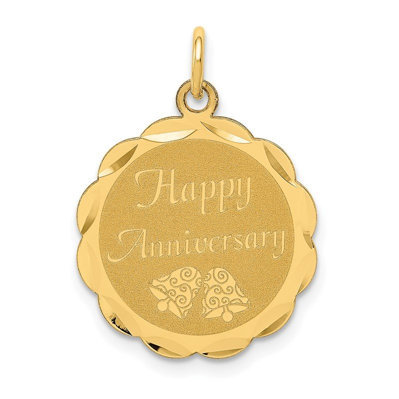 Lester Martin Online Collection 14K HAPPY ANNIVERSARY Charm