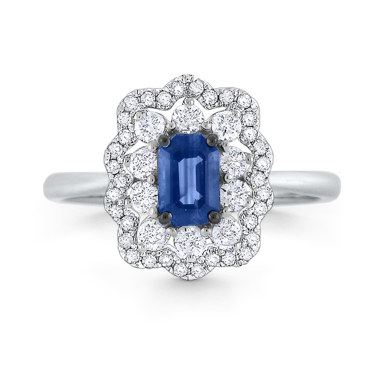 KC Designs Blue Sapphire & Diamond Ring Set in 14 Kt. Gold