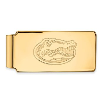 Gold-Plated Sterling Silver University of Florida NCAA Money Clip