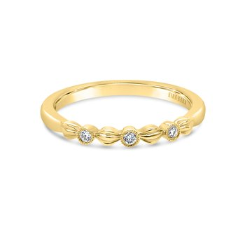 Kirk Kara 18K Yellow Gold Diamond Leaf Band
