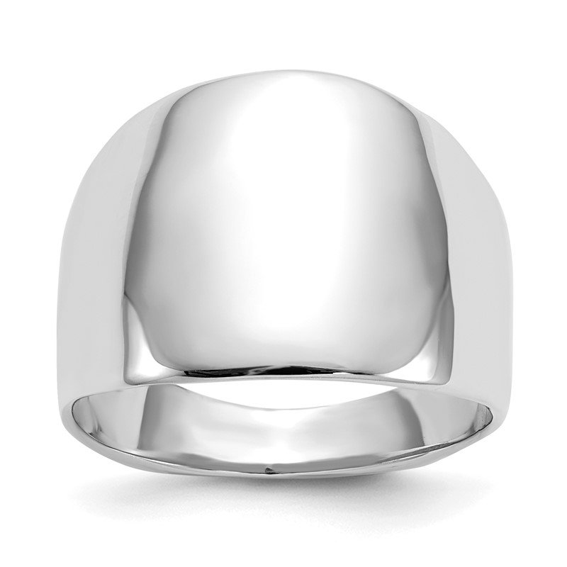 Quality Gold 14k White Gold Polished Dome Ring
