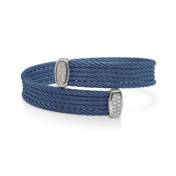 Blueberry Cable Bypass Bracelet with 18tk White Gold & Diamonds