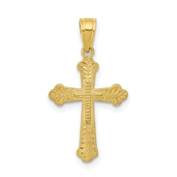 10k Budded Cross Pendant