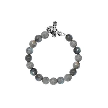 10Mm Labradorite Bracelet W/ Toggle Clasp