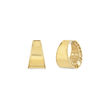 18Kt Gold Tapered Hoops