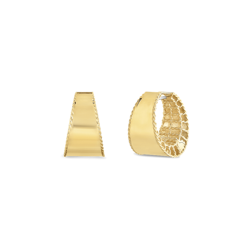 Roberto Coin 18Kt Gold Tapered Hoops