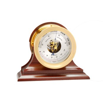 "4 1/2"" Ship's Bell Barometer in Brass on Traditional Base"