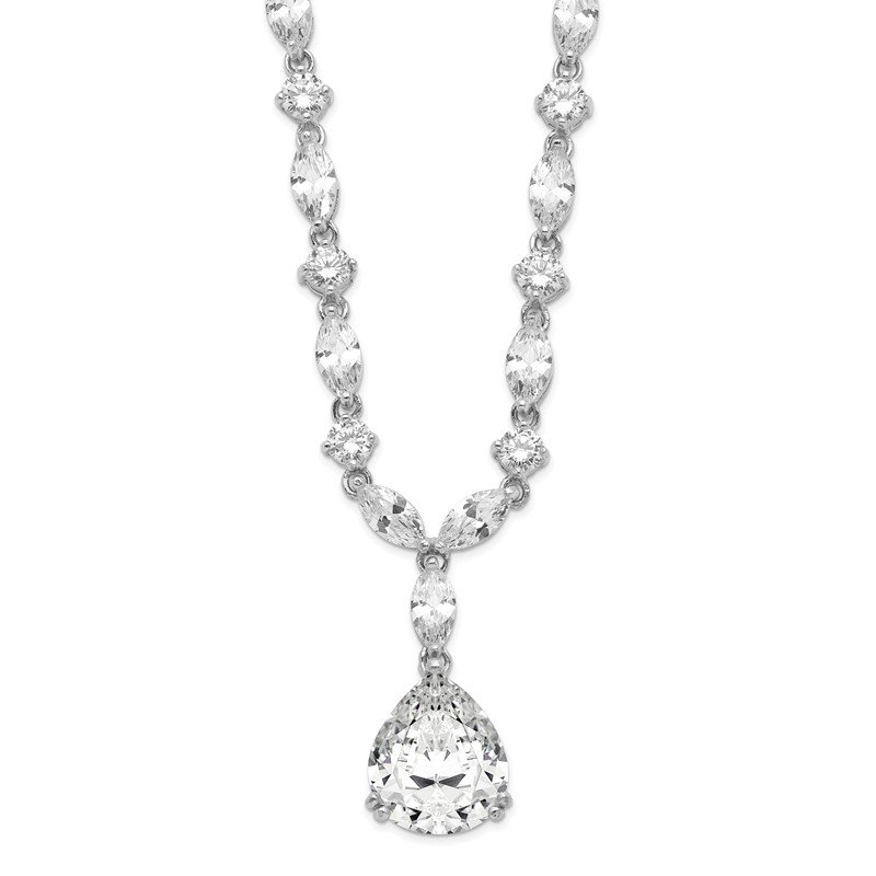 Cheryl M Cheryl M Sterling Silver Pear CZ 17in Necklace
