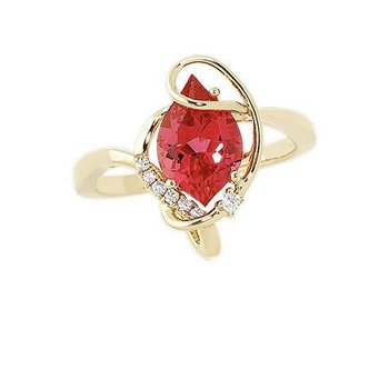 Padparadscha Ring-CR9561YPD
