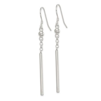 Sterling Silver Fancy Bar Dangle Earrings