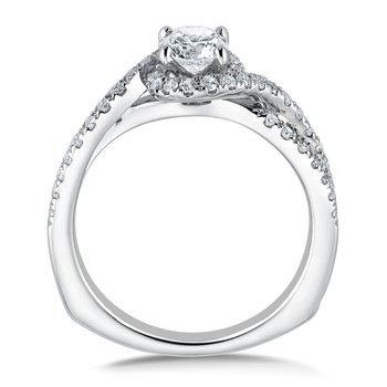 Diamond Engagement Ring Mounting in 14K White Gold (.37 ct. tw.)