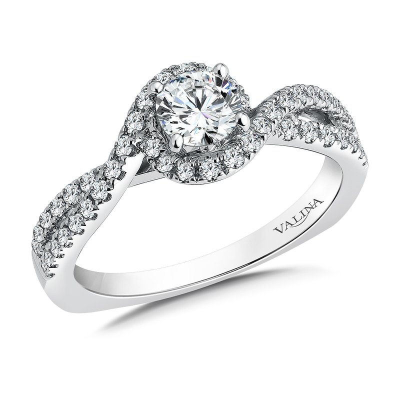 Valina Diamond Engagement Ring Mounting in 14K White Gold (.37 ct. tw.)