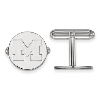 Sterling Silver University of Michigan NCAA Cuff Links