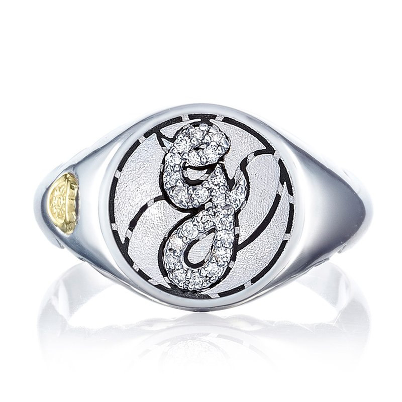 Tacori Pavé Monogram Ring
