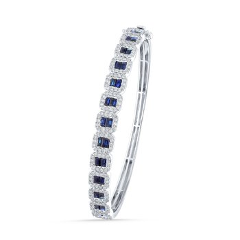 14K 1.25Ct Diamond Bangle