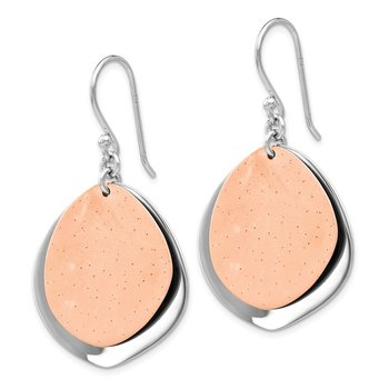 Leslie's Sterling Silver Radiant Essence Rose Gold-plated Earrings
