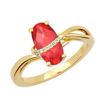 Padparadscha Ring-CR12399YPD