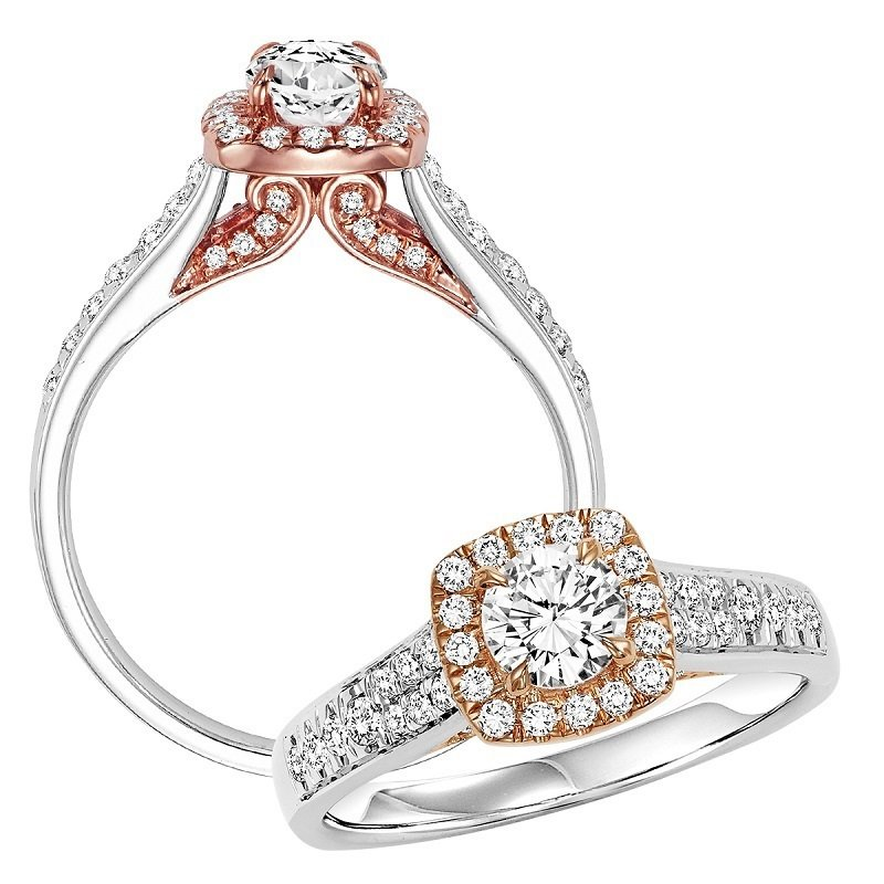 Bridal Bells 14K Diamond Engagement Ring 1/3 ctw with 1/2 ct Center Diamond