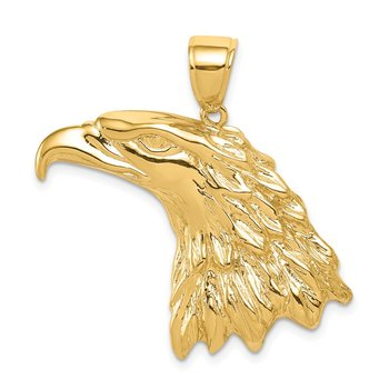 14k Eagle Head Pendant