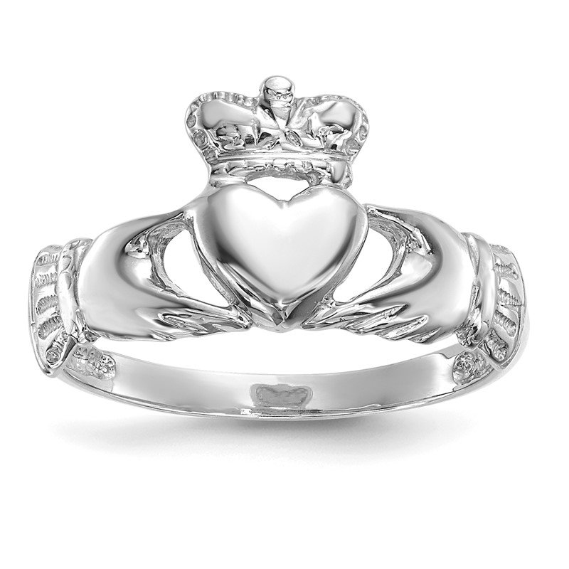 Lester Martin Online Collection 14k White Gold Polished Claddagh Ring