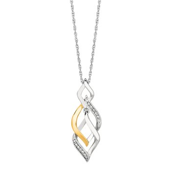 Silver .08ct Diamond Accent Necklace