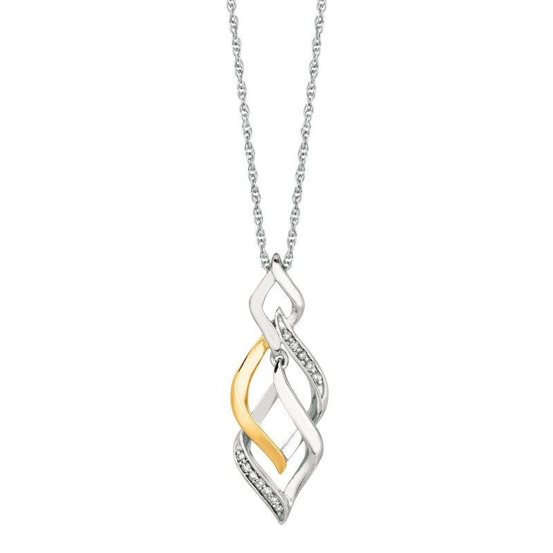 Royal Chain Silver .08ct Diamond Accent Necklace