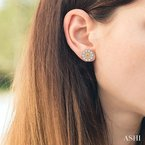 Gemstone Collection diamond earrings jacket