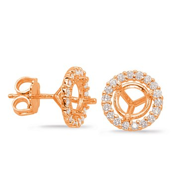 Three Prong Earring Setting 2ct