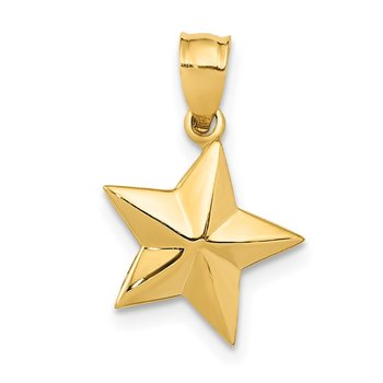 14k Polished Small Star Pendant
