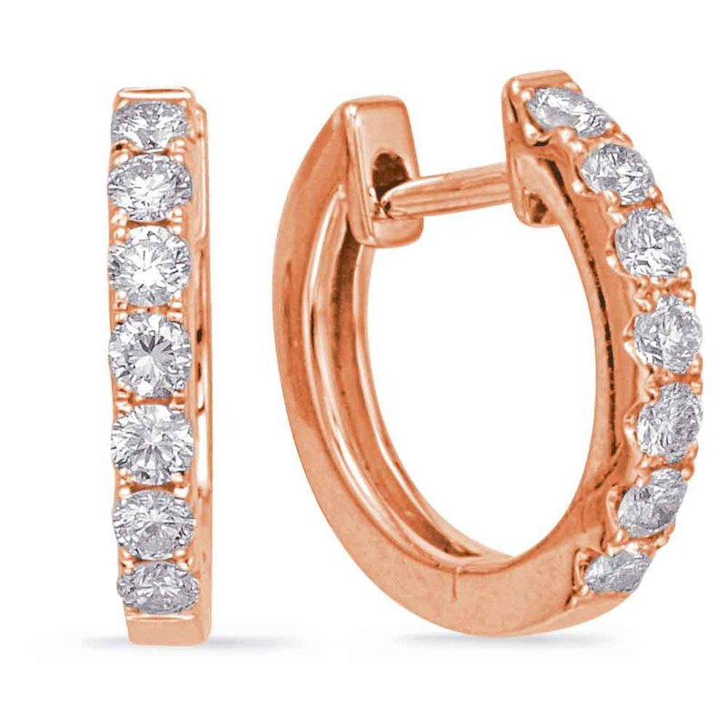 S. Kashi  & Sons Rose Gold Huggie Earring