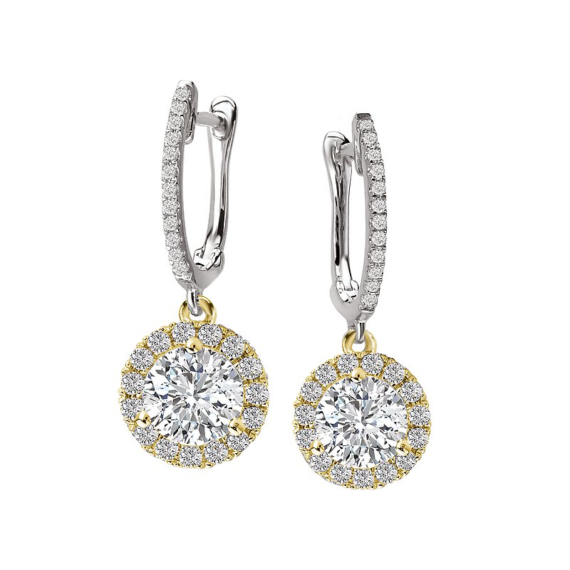 Tesoro Diamond Halo Earrings