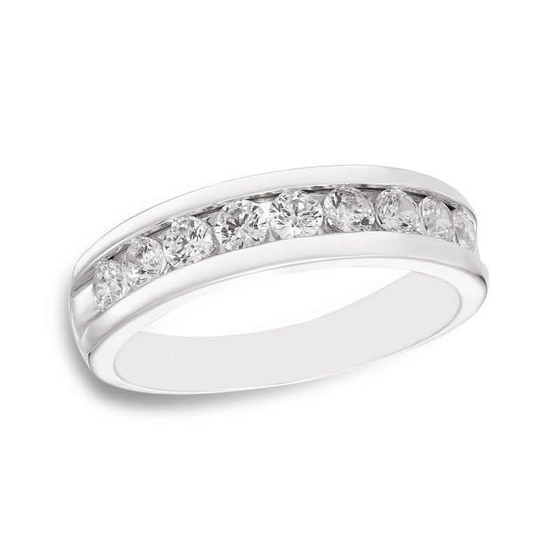 Victor White gold & channel-set diamond men's band