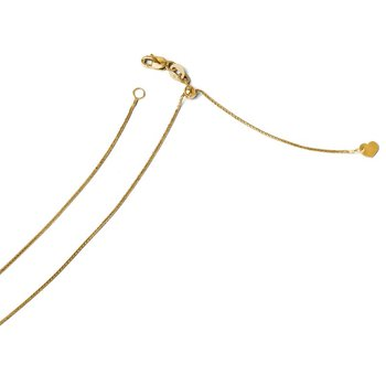 Leslie's 14k Adjustable .8mm Diamond-cut Wheat Chain