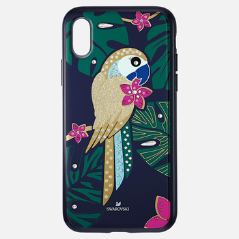 Tropical Parrot Smartphone Case with Bumper, iPhone® XS Max, Dark multi-colored