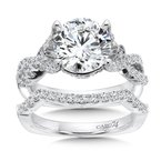 Caro74 Grand Opulance Collection Criss Cross Engagement Ring in 14K White Gold (3 ct. tw.)
