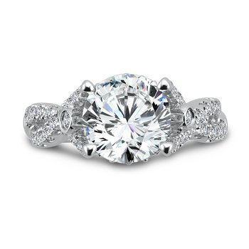 Grand Opulance Collection Criss Cross Engagement Ring in 14K White Gold (3 ct. tw.)