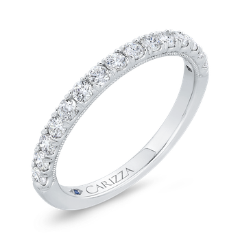18K White Gold Diamond Wedding Band