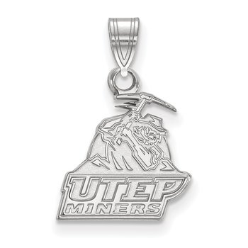 Sterling Silver University of Texas at El Paso NCAA Pendant