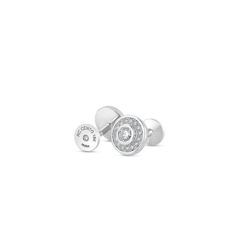 Roberto Coin Cuff Links With Diamonds