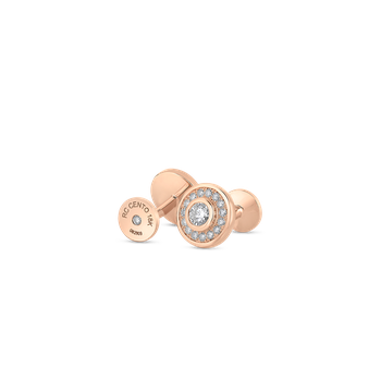 18Kt Gold Cufflinks With Diamonds