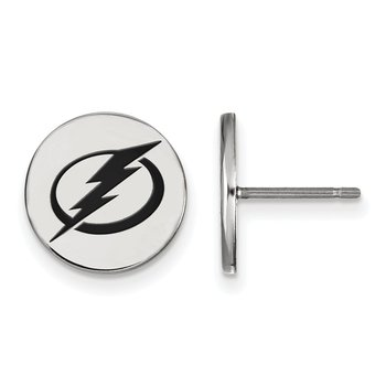 Sterling Silver Tampa Bay Lightning NHL Earrings