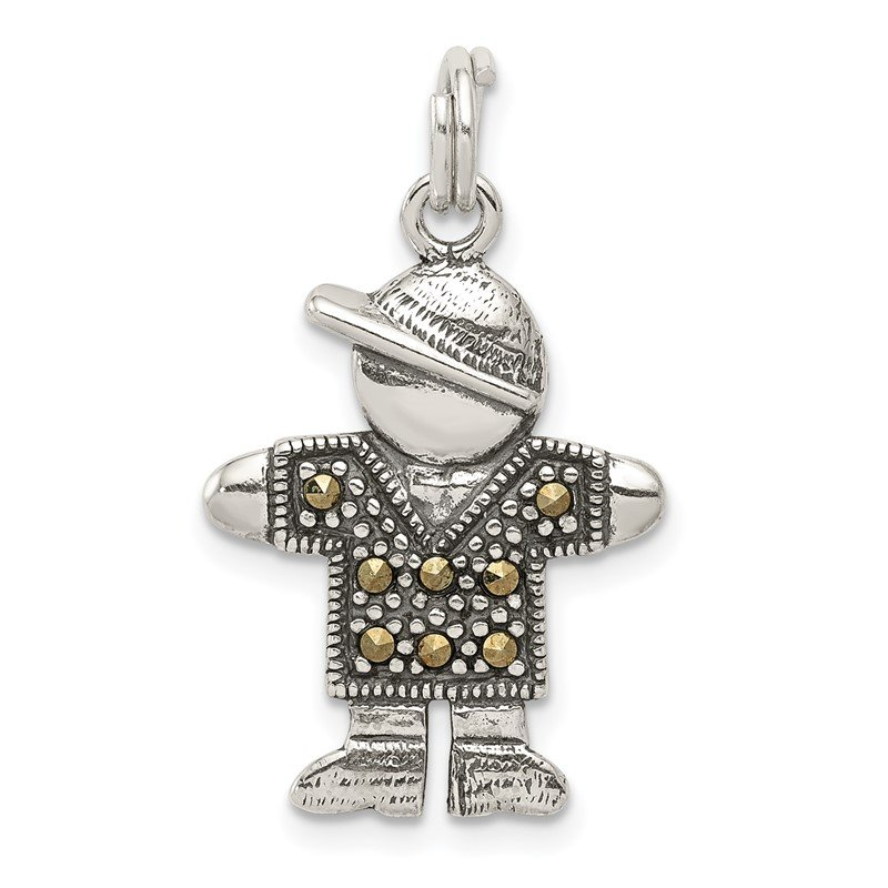 Quality Gold Sterling Silver Boy Charm