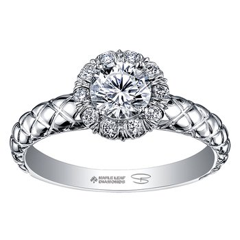 Maple Leaf Diamond,Seasons™ by Shelly Purdy, Ladies Engagement Ring