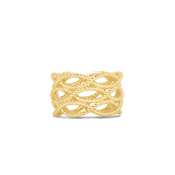 18KT GOLD 3 ROW RING