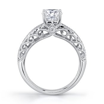 MARS 26431 Diamond Engagement Ring 0.16 Ctw.