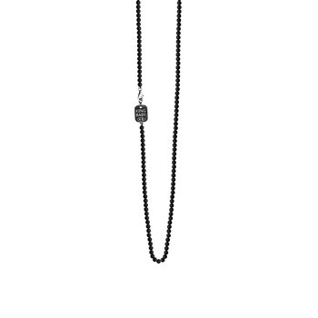 3Mm Onyx Bead Necklace 24