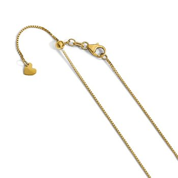 Leslie's 14k Adjustable .7mm Baby Box Chain
