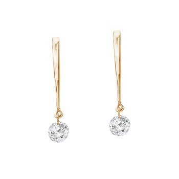 14K Yellow Gold .16 ct Dashing Diamonds Earrings