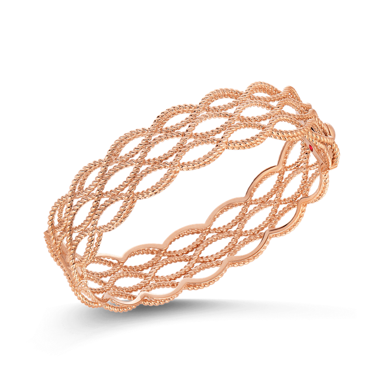 Roberto Coin 3 Row Bangle &Ndash; 18K Rose Gold